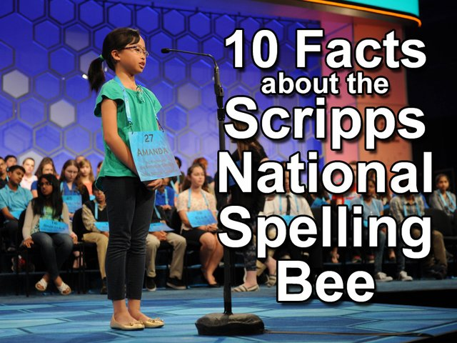 10 facts about the Scripps National Spelling Bee https://t.co/Virogdygkt
