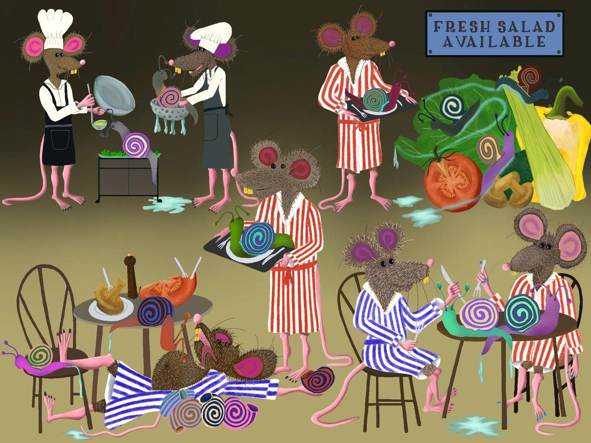 Ratty Snail Restaurant #colour_collective   http:// maguire.gallery / &nbsp;    #illustration #art #kidlitart #childrensbooks #picturebooks #procreate<br>http://pic.twitter.com/Pdb4Gywkj9