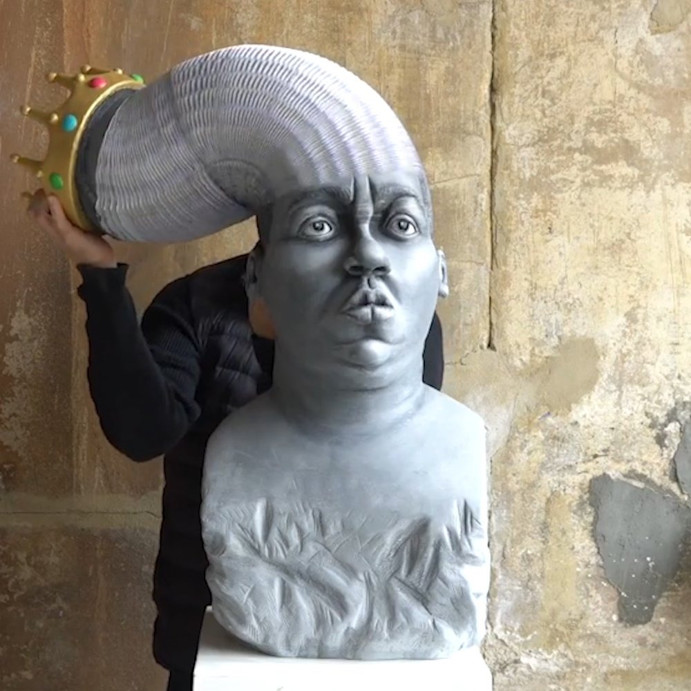 This sculpture of The Notorious B.I.G.​ stretches almost as far as his legacy
