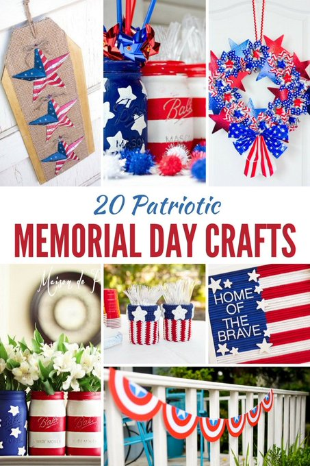 20 Red, White & Blue Patriotic Crafts