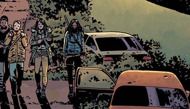 What are #TheWalkingDead comic characters going to be up to in August? Get clues from the newly-released #170 cover:  http:// bit.ly/170Cover  &nbsp;  <br>http://pic.twitter.com/1h73dhmaQS