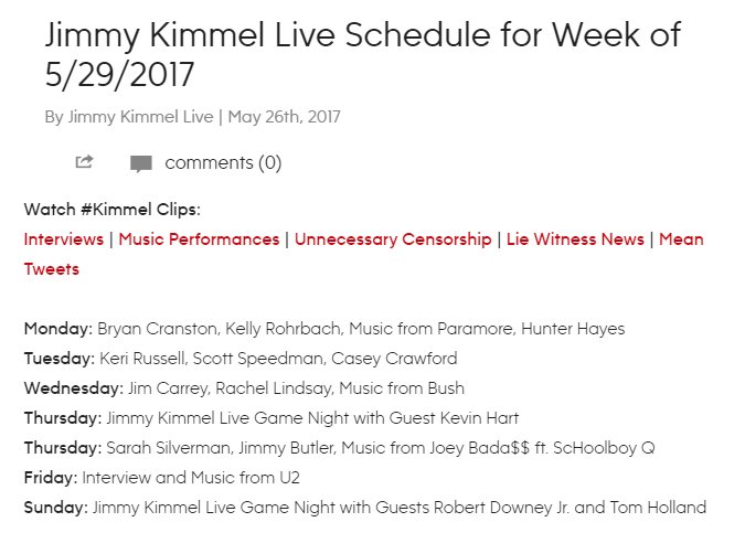 #INFO: Tom Holland and Robert Downey Jr  will appear on Jimmy Kimmel Live on June 4, 2017 <br>http://pic.twitter.com/UGDpSKj67z
