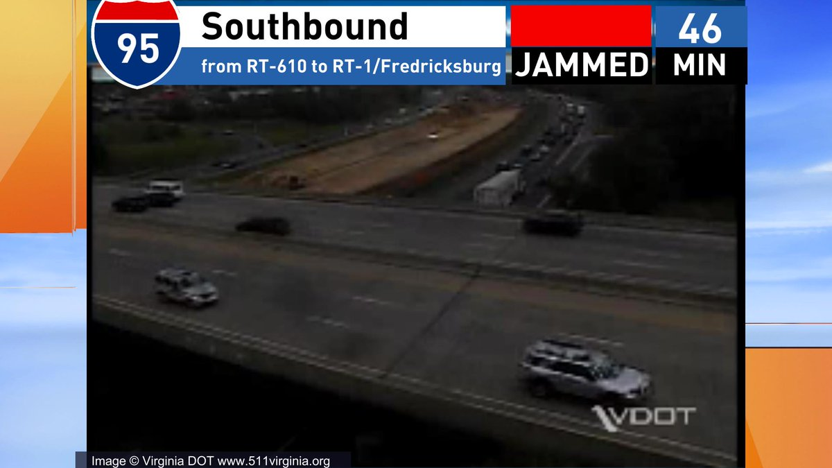 Stacked up in Dale City and again leaving Stafford for Rt 3 #VAtraffic...