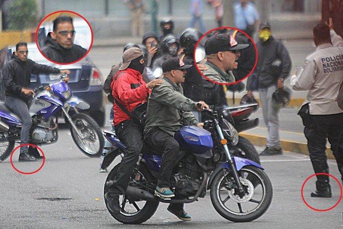 Hampa militar gnb operando conjuntamente con hampa común colectivos servicio régimen narcorrupto chavomadurista.