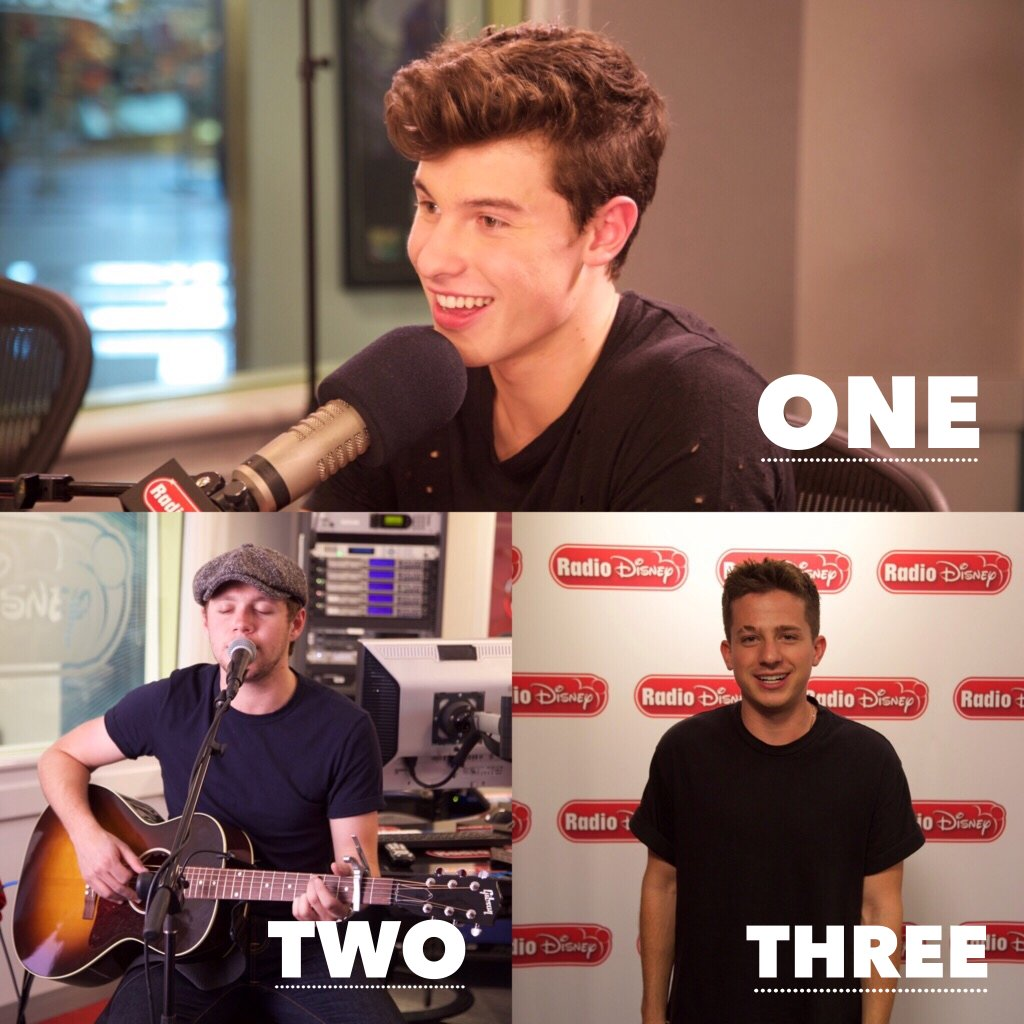 Here's the #RDTop3 for Friday! 1. @ShawnMendes #TheresNothingHoldinMeBack 2. @NiallOfficial #SlowHands 3. @CharliePuth #Attention <br>http://pic.twitter.com/XRCxJJmGLQ
