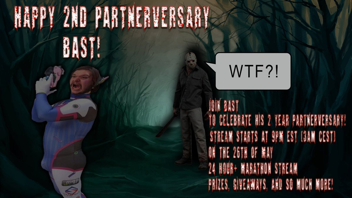 2 Year Partner Marathon is #LIVE Come hang and possibly help us getting to the #1KSubDream  https://www. twitch.tv/bast_50  &nbsp;   Starting with @SWTOR<br>http://pic.twitter.com/i4XPPDujAy