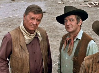 John Wayne, friend, co-star, wedding guest! #JohnWayne and #RodTaylor in The Train Robbers; Duke at Rod&#39;s wedding, 1963.<br>http://pic.twitter.com/4H5gs8fh7f
