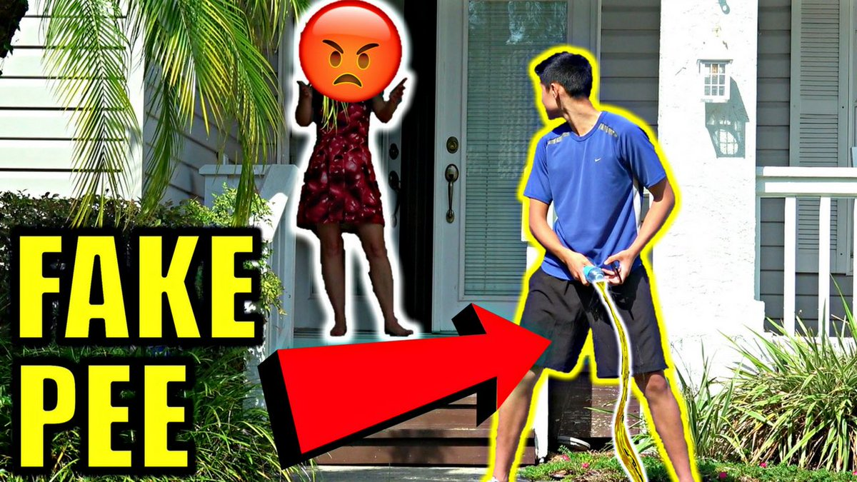 DING DONG DITCH AND PEE PRANK watch it   https:// youtu.be/YCAOA0JQRQY  &nbsp;   We got chased and cops  were called TWICE !   #prank #pranks #funny #IBP <br>http://pic.twitter.com/IVFxPqtqVC