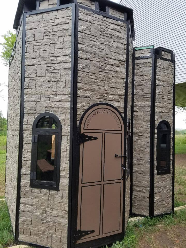 harry potter fans come check out the casa playhouse parked this wknd in front of the law arts cntr raffle tix