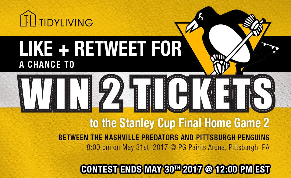 Want to go to the #StanleyCup  playoffs? #RT and #Like for a chance to #win a pair of tickets! Contest ends 5/30 @ noon #contest #TidyLiving<br>http://pic.twitter.com/jhQNH2e70n