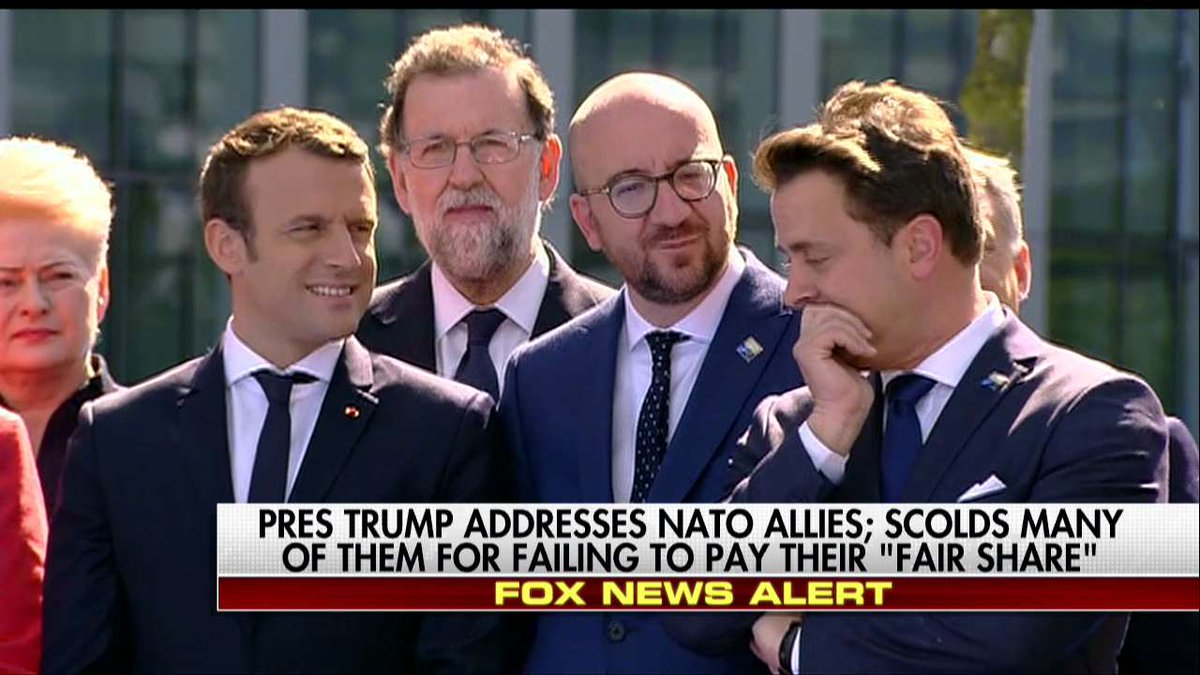 ICYMI: Leaders Appear to Snicker as @POTUS Calls on NATO Allies to Pay Their 'Fair Share' @TeamCavuto https://t.co/u2vU5E3reF