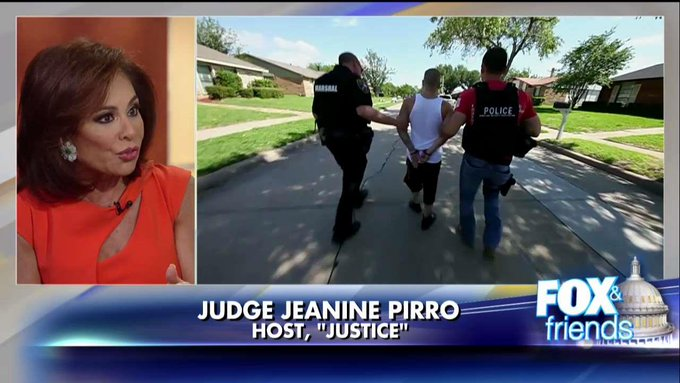 'These Were Not Unaccompanied Minors!': @JudgeJeanine Sounds Off on Release of MS-13 Gang Members @foxandfriends https://t.co/oOpTLL0PPI