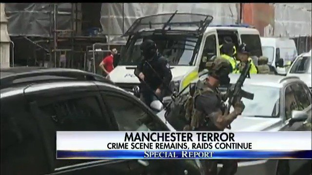 Manchester terror - crime scene remains, raids continue. #SpecialReport