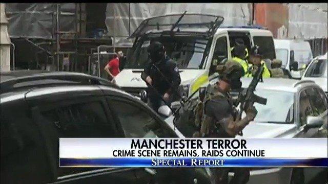 Manchester terror - crime scene remains, raids continue. #SpecialReport