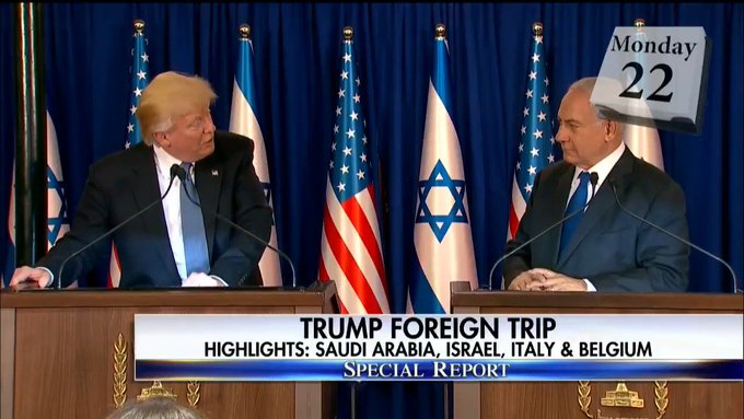 .@POTUS foreign trip - Highlights: Saudi Arabia, Israel, Italy, and Belgium. #SpecialReport