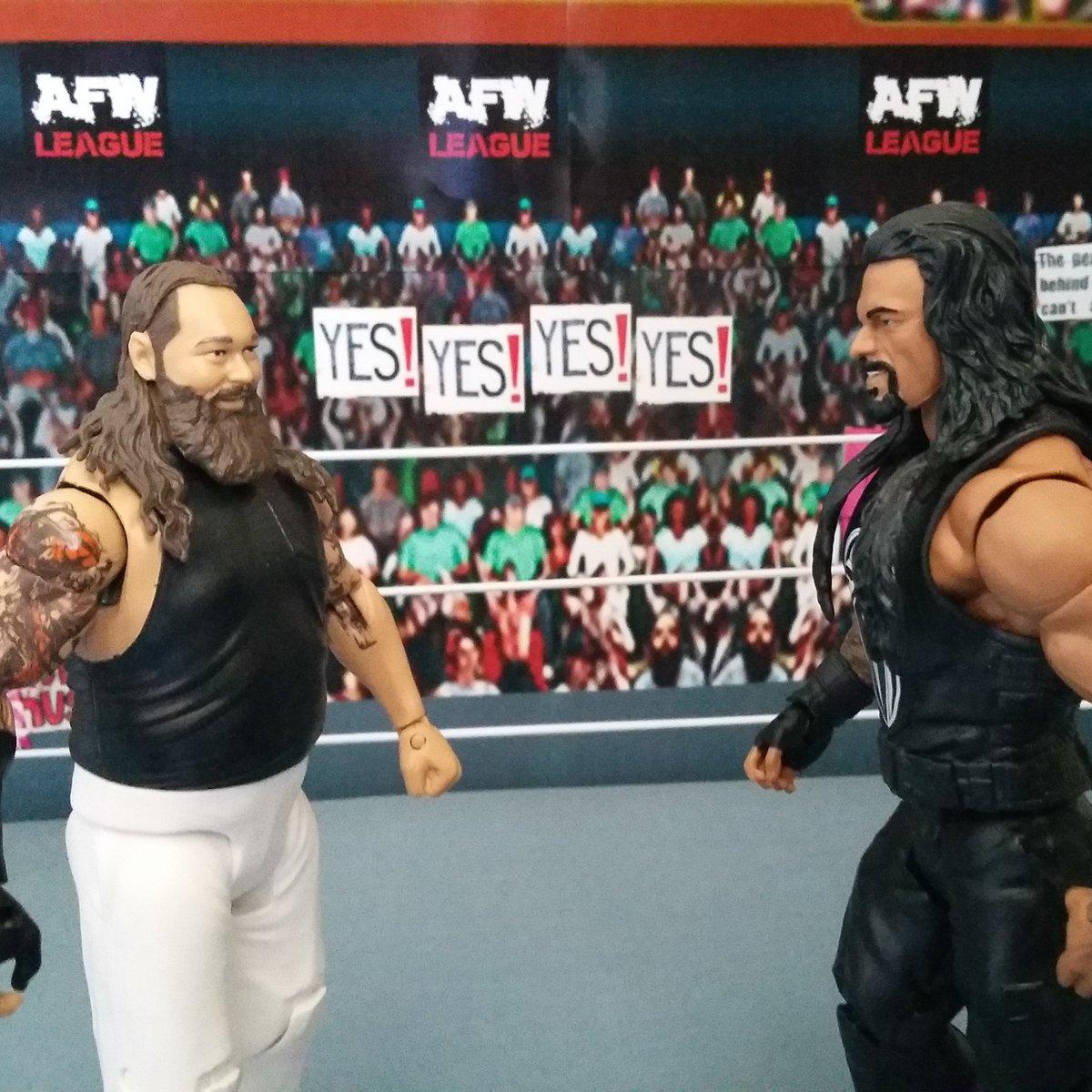 Hello my old friend!! #braywyatt vs #RomanReigns coming soon to AFW. #wwe #raw #smackdown #RoyalRumble #nxt #wrestlemania #mattel #wrestling<br>http://pic.twitter.com/WPazGFQ0jb