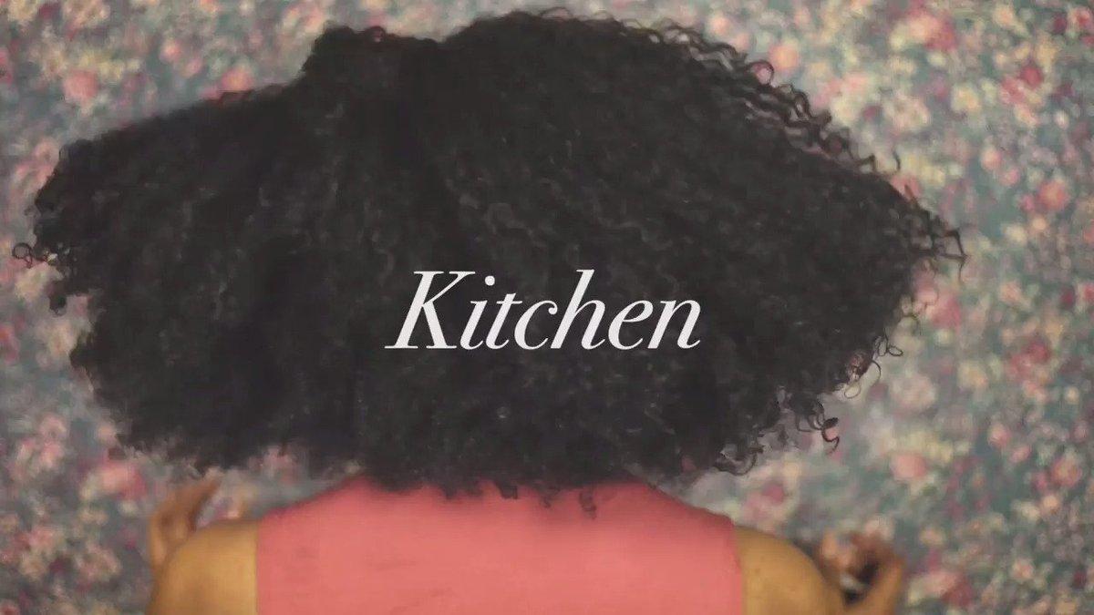 Kitchen. A tribute to locks & line-ups. #blackhairchallenge https:...