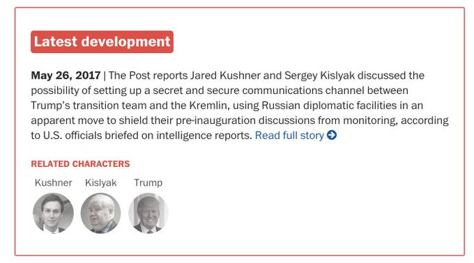 BREAKING: Russian ambassador told Moscow that Kushner wanted secret communications channel with Kremlin https://t.co/t3OGyTsYdF