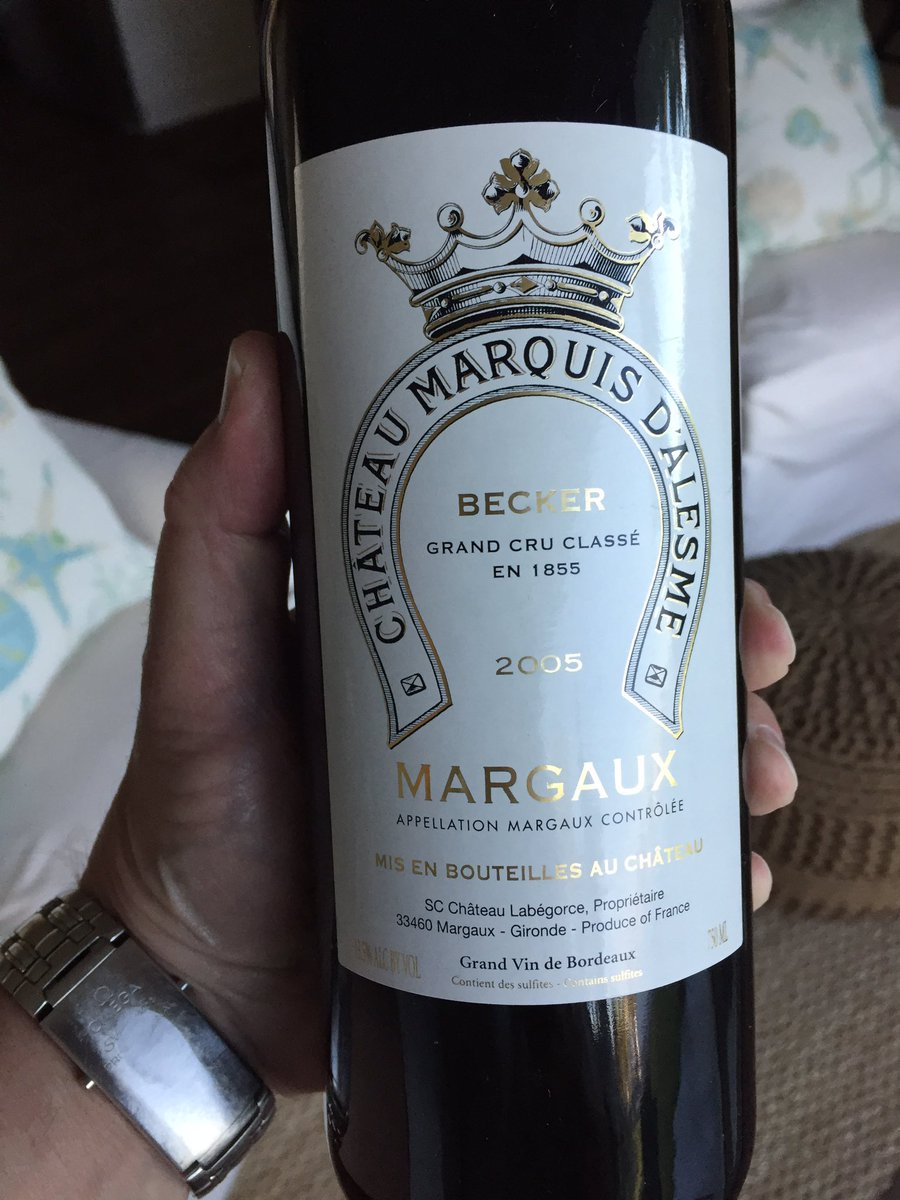 @RoebuckSteve1 you inspired me to pull out this 2005 third growth #Margaux #Bordeaux #wine from the cellar. Your thoughts?<br>http://pic.twitter.com/SsyBvxLkPI