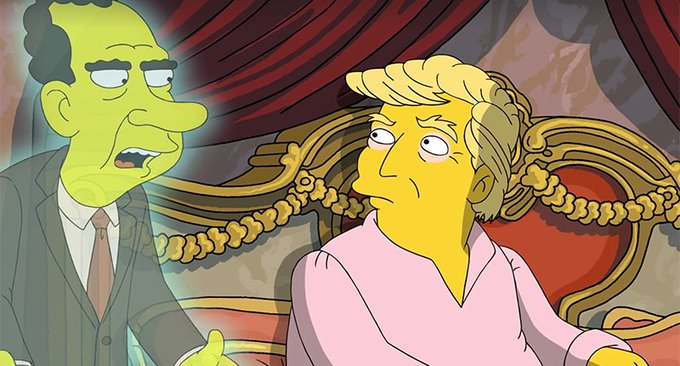 'If you have tapes, burn 'em': Nixon's ghost offers Trump advice in hilarious Simpsons short https://t.co/DYJAiYpXmm