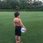 Happiness (and reality sinking in) when your (almost) 9yo beats you in a 100yd dash.