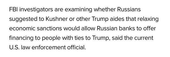 This part of th @Reuterse  scoop on Kushner's undisclosed contacts with Kislyak seems quite significanhttps://t.co/Ztcw5LmjzDt.