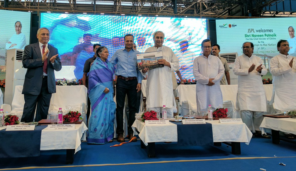 Hon'ble CM Odisha Shri @Naveen_Odisha did the booklaunch of our coffeetable book on #JSPLAngul