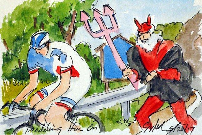 @EquipeFDJ @ThibautPinot chased by the #Devil more #Giro100 #cycling #art @  http:// theartofcycling.blogspot.com  &nbsp;   &amp; @  http:// kck.st/2pd3lfT  &nbsp;   #cyclisme <br>http://pic.twitter.com/NiJwh0m76k