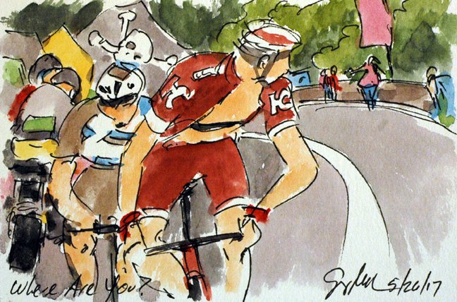 @AG2RLMCyclisme @pozzovivod gains time on GC More #Giro100 #cycling #art @  http:// theartofcycling.blogspot.com  &nbsp;   &amp; @  http:// kck.st/2pd3lfT  &nbsp;   #cyclisme <br>http://pic.twitter.com/pd9IKTzuaF