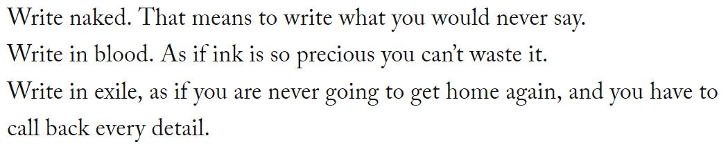 The late Denis Johnson's three rules to write by: https://t.co/SB37N4zmrL
