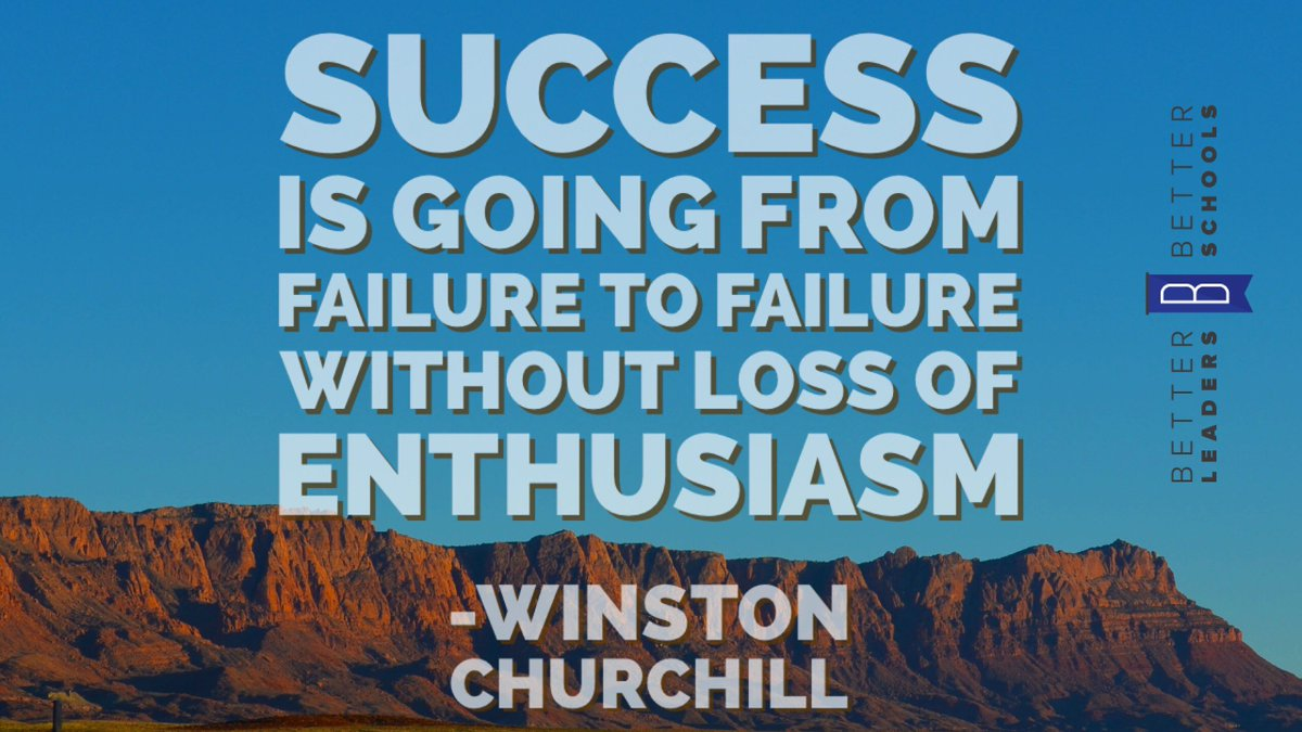 You&#39;re going to fail, but the lessons learned are invaluable ... #education #leadupchat<br>http://pic.twitter.com/8nsRxg43tf