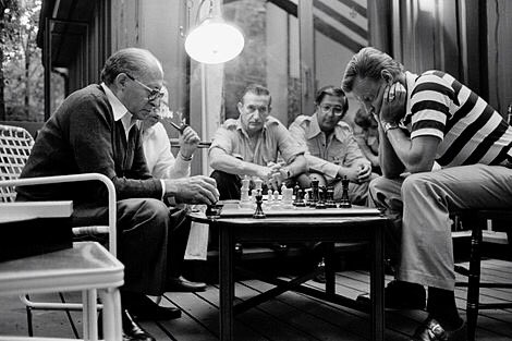 This is one of my favorite photos of Dr. Brzezinski playing chess with PM Begin at Camp David. It captures him well. @zbig