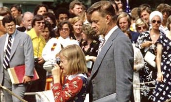 This is one of Mika's favorite pictures of her and her dad. They're on the White House lawn.