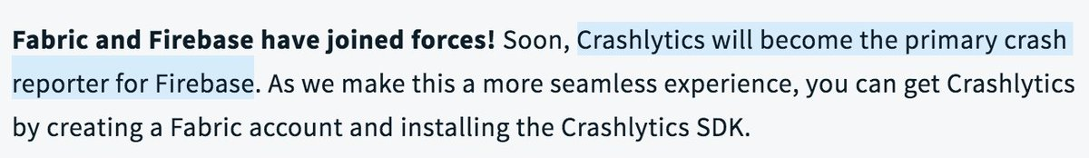 The @crashlytics will become the primary crash reporter for @Firebase   #AndroidDev #android #crash #developers #AndroidDevelopers #google<br>http://pic.twitter.com/Rx82T3ri46