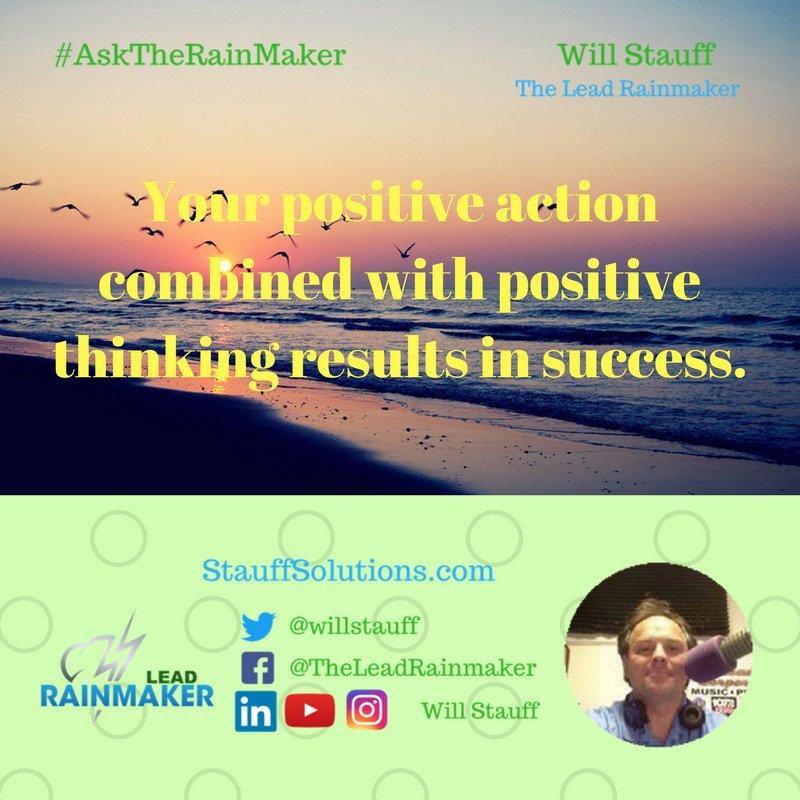 The Lead Rainmaker On Twitter Positive Action Combined With