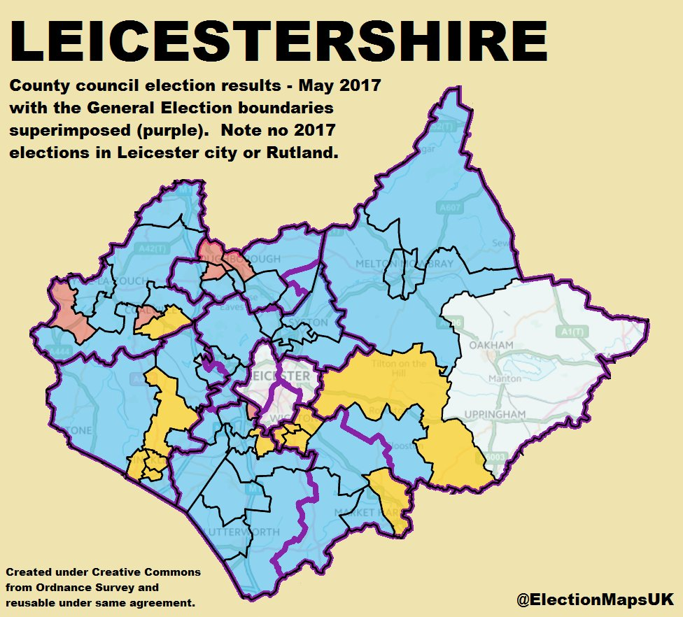 Leicester City Uk Map.Election Maps Uk On Twitter Le2017 Results For Leicestershire