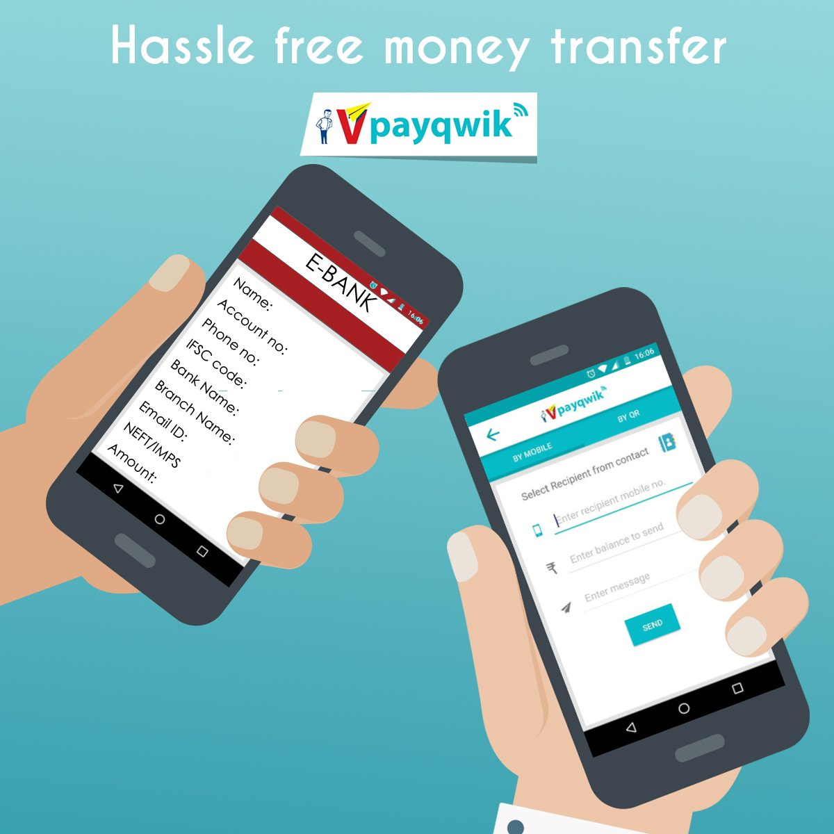 Transfer money through Mobile Number or QR Code. Download VPayQwik now. #DigitalWallet #Trust #MoneyTransfer<br>http://pic.twitter.com/iToU1EzwjY