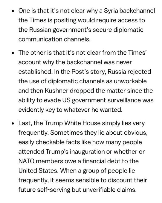 This, fro @mattyglesiasm , is helpful. He asks some good questions about t @nytimeshe  report on Kushner and Russhttps://t.co/LidbNJSb9Cia.