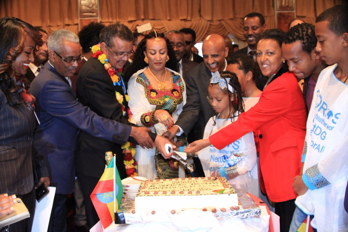 #Ethiopian warmly welcomed Dr. Tedros Adhanom, the new Director General of the #WHO! We are ALL proud! @DrTedros @WHO<br>http://pic.twitter.com/0SeCeQamd8