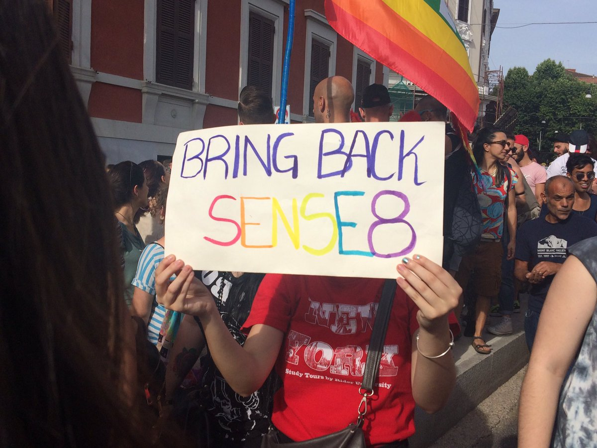 #BringBackSense8 signs at the #RomaPride @netflix<br>http://pic.twitter.com/3qpvuD0utQ