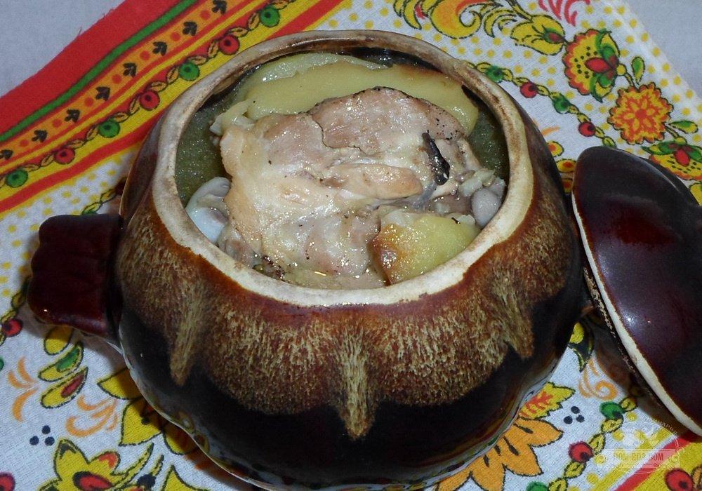 Курица с картошкой в духовке рецепт в рукаве