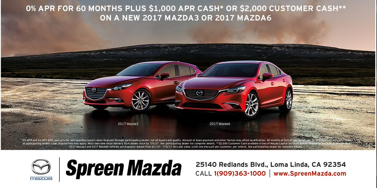 Spreen Mazda SpreenMazda Twitter - Mazda of redlands