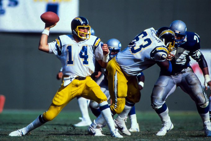 """Happy Birthday to my last childhood hero, HOFer Dan Fouts of the \""""San Diego\"""" Chargers."""