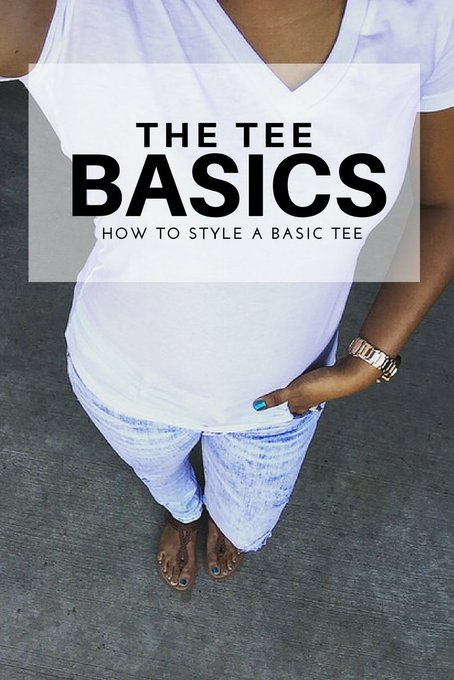 The Tee Basics | How to Style your Basic Tees