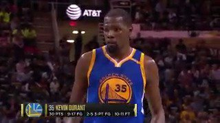 Cavaliers fans chant 'Russell Westbrook' while Durant was at the free-throw line