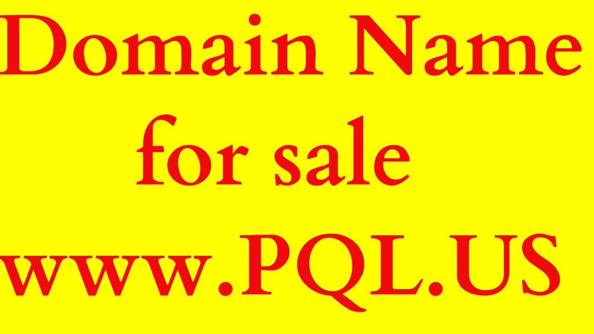 #PQL.US – RARE 3 Letters Premium Expired DOMAIN NAME, registered at GoDaddy  https:// goo.gl/eds9O3  &nbsp;  <br>http://pic.twitter.com/imROUgWkQp
