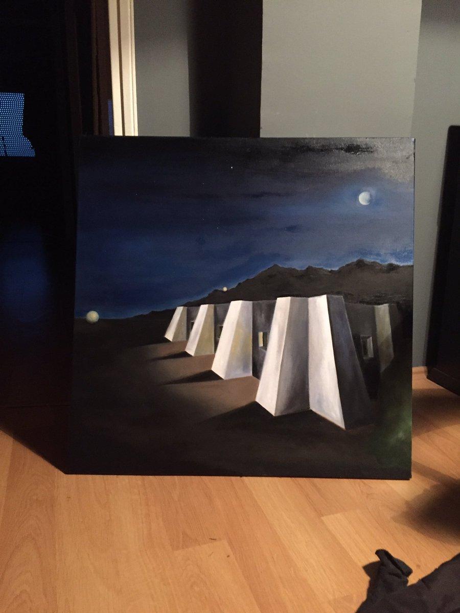 Finally #desert house at night, June 2017 #art #painting #paintings #painter #painters #artwork #artist #peinture #peintures #huilsurtoile<br>http://pic.twitter.com/GudgK8SqYJ