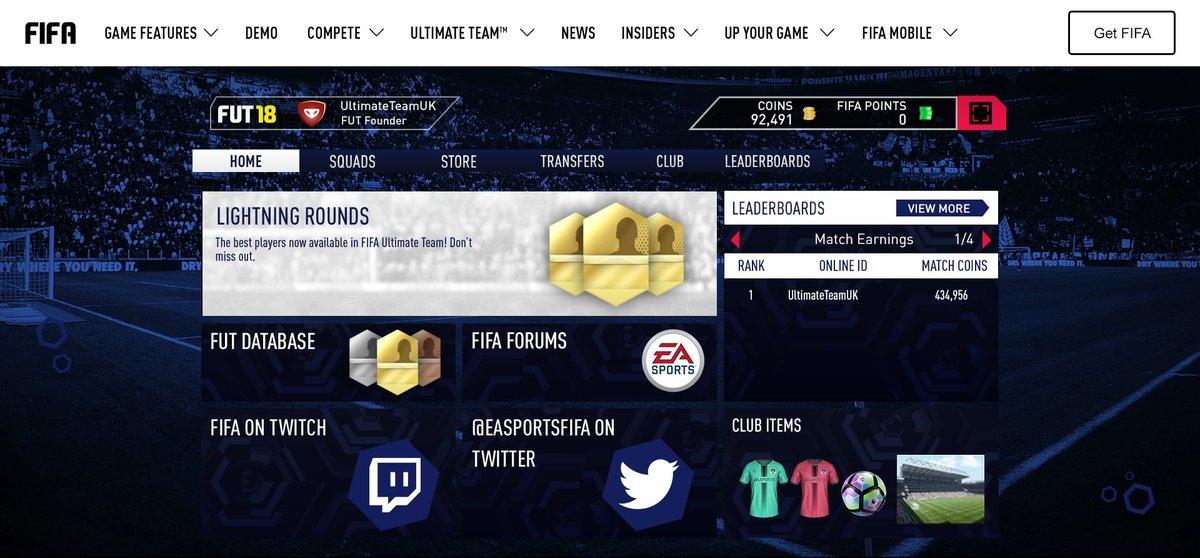fifa 20 ultimate team web app