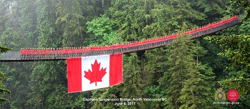 #Canada150  #NorthVancouver - Happy Birthday, Canada! – Red Serge Bridge Style! https://t.co/LIUVUa1QqN https://t.co/Yjo0kCcsF2