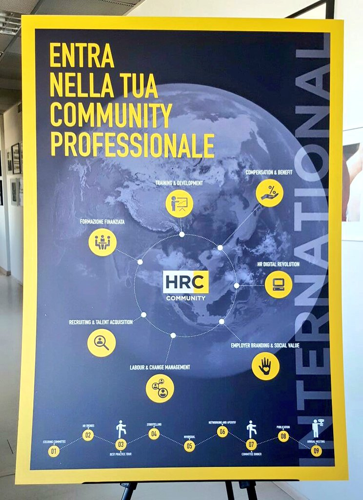 💛 Inizia a vivere la tua #Community #Experience ❗ #HumanResources #International #HRC ➡️Scopri di più in #HRCmeeting2017 https://t.co/yWmxYALRwb